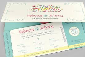 boarding pass invitations hawaiian wedding boarding pass invitation template by godserv