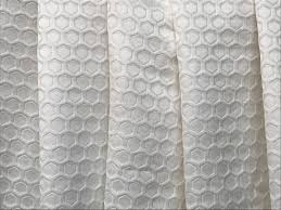 ivory geometric hexagon curtain fabric by the yard upholstery