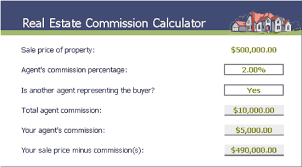 real estate commission calculator office templates