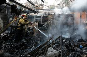 Wildfire Shot Drink by Wildfires Leave Chimneys Charred Appliances In Their Wake