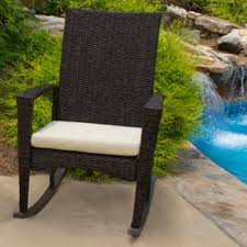 Resin Wicker Rocking Chair Patio Rocking Chairs U0026 Gliders You U0027ll Love Wayfair