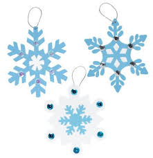 amazon com snowflake ornaments craft fun foam kit makes 24