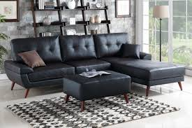 Montebello Collection Furniture Black Leather Sectional Sofa Steal A Sofa Furniture Outlet Los