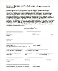 sample psychology consent forms 7 free documents in word pdf