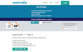 bcba bacb real exam questions 100 free exam labs