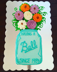 mason jar cake with cupcake bouquet my cakes pinterest mason