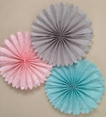 tissue paper fans set of 5 tissue paper fans nursery decor 5 pomwheels