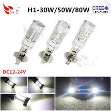 Led Car Lights Bulbs by 1x H1 30w 50w 80w Led Car Fog Lamp H1 Led Headlight Bulb Auto