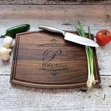 cutting board wedding gift personalized cutting board walnut maple house