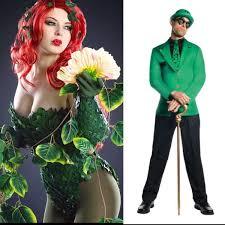 Halloween Poison Ivy Costume Dc Comics Cosplay Riddler Poison Ivy Dc Gotham