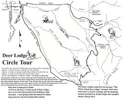 Yellowstone Lodging Map Deer Lodge Attractions Powell County Chamber Of Commerce Deer