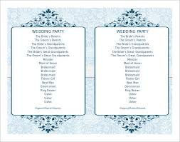 simple wedding program wedding program template 64 free word pdf psd documents