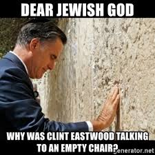 Clint Eastwood Chair Meme - dear jewish god why was clint eastwood talking to an empty chair
