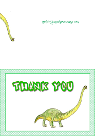 1 dinosaurs images free thank you notes card free printable blank