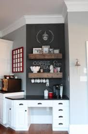 simple coffee themed kitchen primcousa