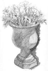 Pencil Sketch Of Flower Vase Drawing Creativity And Depression Carol U0027s Drawing Blog
