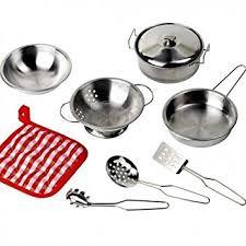ustensiles de cuisine pour enfant goki dînette pour poupées set de cuisine 9 éléments ustensile de
