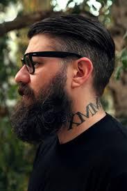 short undercut with beard fade haircut