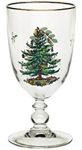 spode tree glass footed all purpose glasses