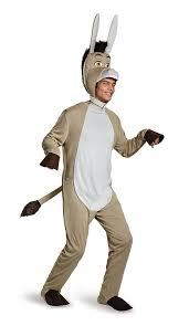 amazon com disguise men u0027s shrek donkey deluxe costume clothing