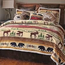 Rustic Bedroom Set With Cross Rustic Bedding U0026 Cabin Bedding Black Forest Decor