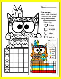 thanksgiving activities graphing shapes thanksgiving math by