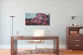 chambre rouge et noir tableau toile panoramique vision rouge et moderne