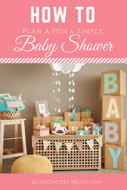 simple baby shower how to throw a and simple baby shower blossom