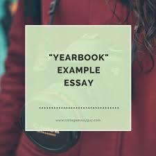 sample uc essays yearbook