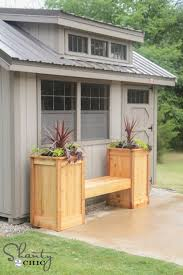 Garden Bench With Planters 17 Awesome Diy Outdoor Bench Ideas