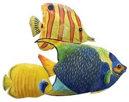 wall ideas design painted large tropical fish wall