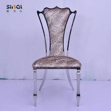 European High Chair by Stainless Steel Dining Chair Fashion European High End Hotel