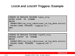Oracle Create Table Example 10 Creating Triggers