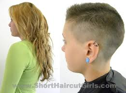 short haircuts for women with clipper clipper cut makeover www shorthaircutgirls com long to short