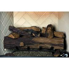 appalachian oak vented natural gas fireplace log set with remote