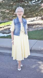 what is in style for a 70 year old woman denim vest 2 with a dress jodie s touch of style