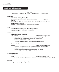 Resume Examples For College Student by Example Of College Student Resume Resume Examples For College