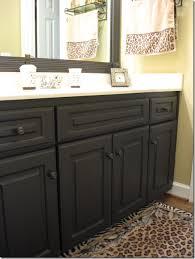 how to paint bathroom cabinets black www islandbjj us