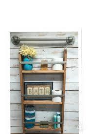 Bathroom Shelving Unit by Bathroom Ladder Shelf Rustic Bathroom Shelf Ladder Storage