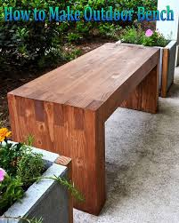 how to make an outdoor table how to make outdoor bench coffee break time