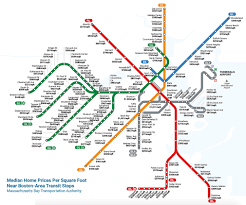 Mbta System Map by How Much It Costs To Live At Each Mbta Stop