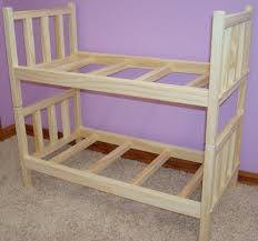 Doll Bunk Beds Plans Usa Handmade Solid Wood Stackable Doll Bunk Bed Fits 18 20