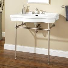 Elements Bathroom Furniture 36 Nottingham Console Sink With Brass Stand Console Sinks