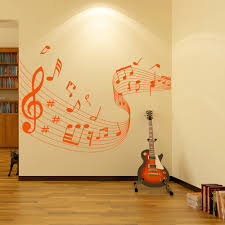 sport wall stickers sport wall art with 30 colours of each musical notes score wavy musical notes instruments wall stickers music decals