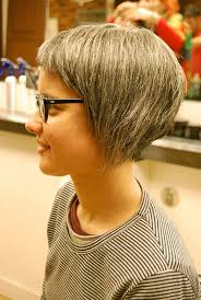 side view of blended wedge haircut stylish asymmetrical bob haircut for women hairstyles weekly