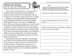 Paragraph Writing Worksheets Revise Your Writing 2nd Grade Reading Comprehension Worksheets