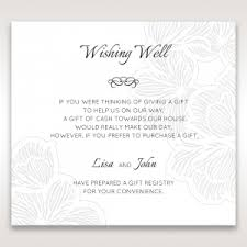 gift registry for wedding wishing well cards for your stationery set
