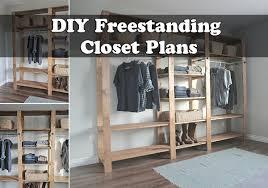 Free Standing Shelf Plans by Diy Freestanding Closet Plans Jpg