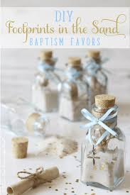 White And Gold Baptism Decorations Diy Footprints In The Sand Baptism Favors Neat House Sweet Home