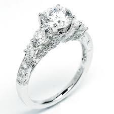 engagement rings australia bead set pave deco diamond engagement ring 2 40 cttw